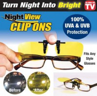 Night View Clip Ons : Kacamata Klip On Anti Silau Saat Malam