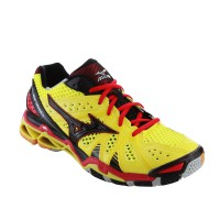 SEPATU VOLLEY/BADMINTON MIZUNO WAVE TORNADO 9 - BOLT / BLACK / CHINESE RED V1GA141207 READY39SD47