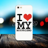 Apple iPhone 5/5s/SE Fullprint Casing Couple Case I Love My Boyfriend
