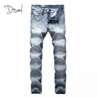 [globalbuy] 2016 New arrival brand mens jeans ripped high quality fashion denim biker jean/4137706