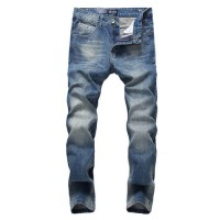 [globalbuy] Fashion Solid Blue Jeans For Men High Quality Comfortable Jeans Trousers Origi/4137380