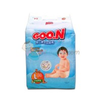 Goon Slim L 64 Diapers Size L ( 9 - 14kg ) Color Blue White