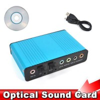 [globalbuy] USB 2.0 Sound Card 6 Channel 5.1 Optical External Audio Card SPDIF Controller /4500638