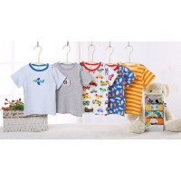 Carter set short tee 5 in 1 /kaos carter pendek boy girl kancing bahu (random motif)