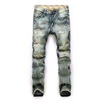 [globalbuy] Fashion Famous Brand Mens Jeans,New High Quality Casual Jeans,Scratched Jeans /4137121
