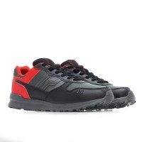 PIERO Sepatu Olahraga Casual JOGGER RED CUERVO - BLACK/GREY/RED P20078