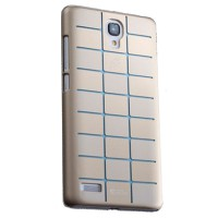 Max Ultra Thin Fit Sparkle Air Case For Xiaomi Redmi Note - Gold List Blue