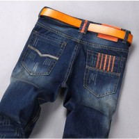 [globalbuy] Autumn mans Casual comfortable fashion cotton jeans male slim fit Thicker sect/4136661