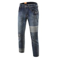 [globalbuy] 2016 hottest ripped jeans skull jeans men jeans fashion design motorcycle hole/4136758