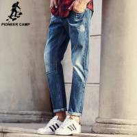 [globalbuy] Pioneer Camp 2016 men fashion straight Jeans classic denim trousers fall winte/4136609