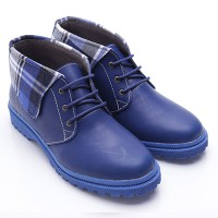 Dr.Kevin Boot Shoes Leather 4012 Blue