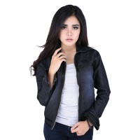 Catenzo Jaket Denim Wanita NJx911 Blue