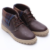 Dr.Kevin Leather Boot Shoes 4012 Brown