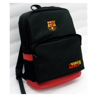 Tas Backpack Barcelona Hitam Slot Laptop