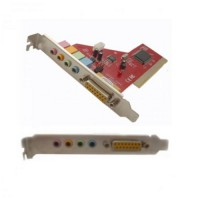 PCI Sound Card 4 Channel with Game Port