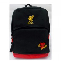 TAS BACKPACK LIVERPOOL HITAM SLOT LAPTOP