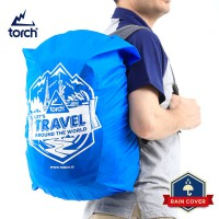 TORCH Rain Cover Let's Travel Arround The World Blue 19 - 24 Liter