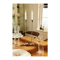 IKEA (R) - Stockholm ELEGANT Candle Stick 1 SET isi 2pcs (T: 40cm) Stainless Steel, Exclusive Look