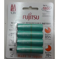 Baterai / Battery Fujitsu 4 Pcs AA 1900mAh 1800 Cycles (Made In Japan)