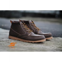 Sepatu D-Island Shoes Boots High Quality Leather Soft Brown man shoes