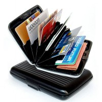 Dompet Kartu Nama / Aluma Wallet / Credit Card Holder / Organizer / Guard (kartu kredit, ATM)