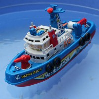 [globalbuy] High Speed Children Marine Rescue Toy Boat Fire Boat Electric Boat Children El/4457762