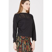 Clarissa Black Crop Sweater