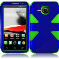 [poledit] For Alcatel One Touch Evolve 5020T 5020 Cover Case (Dynamic Dark Blue/Neon Green/2229205