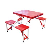 Atria Hobbit Portable Folding Picnic Table & Seats - Merah