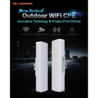 [globalbuy] 2PCS COMFAST CF-E214N-V2 outdoor CPE 1-3km siganl booster for ip camera projec/4493630