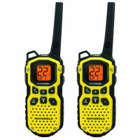 Motorola Walkie Talkie MS350 Walky Talky - [Up to 35Mile][Waterproof] - 2 pcs - Tahan Air - Yellow