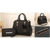 TAS BRANDED FASHION IMPORT Charles & Keith BEST QUALITY HANDBAGS 2in1 - MX113B RED PINK BROWN BLACK