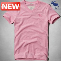 Abercrombie Short Sleeve T-Shirt DC-124-236-0437-060 A & F Sentinel Range Tee Pink Pants
