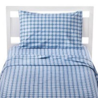[poledit] Circo Easy Care Sheet Set Blue Plaid - Queen Size/13451157