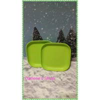 snack plate green