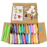 [globalbuy] 24 Colors Intelligent Plasticine Clay Play Doh With Tool Kit Space Mud Childre/4477034