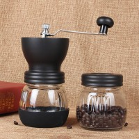 Coffee Grinder Glass with Extra Container Penggiling Kopi Manual