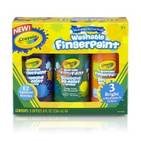 CRAYOLA 3ct Washable Fingerpaint - Secondary Color 551311