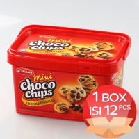 Kokola Mini Choco Chips Chocolate Cookies 135 gr (1 Dus = 12 Bucket)