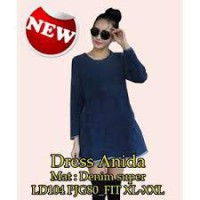 Paket 6 pcs | TENABANG OFFICIAL | Dress Anida - Denim Super | Fit to XL-XXL | SW229G | PAKAIAN ATASAN WANITA TERBARU