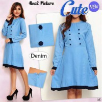 Paket 6 pcs | TENABANG OFFICIAL | Dress Cute - Super Denim | Fit to L-XL | SW233G | PAKAIAN ATASAN WANITA TERBARU