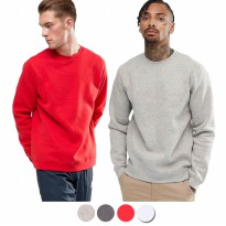 Jaket Sweater/Sweater Lengan Panjang/Mens Long Sleeve Sweatshirt - Available In 4 Colors