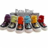 RINDA OLSHOP KAOS KAKI PETITE MIMI SMILEY BOY ( 0-12 BU