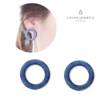 cocoa jewelry Anting Wanita Korea - Blue Mika Stone Earring - No Box