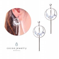 cocoa jewelry Anting Wanita Korea -  Deja Vu Crystal Varian