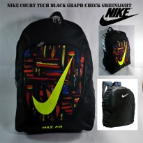 Tas ransel nike court tech black graph check greenlight free rain cove