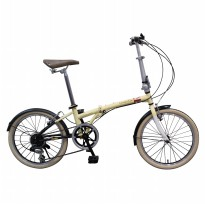 London Taxi Folding Bike 20 Inch - Cream