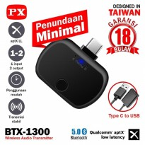 Bluetooth Transmitter Audio USB Type C 5.0 HD stereo PX BTX-1300