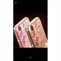 Casing Oppo F3 / F3 Plus / A37 / A39 / F1S Luxury Flower Plating List Diamond Case