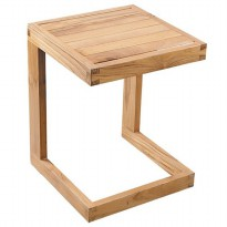 Prissilia Meja Minimalis Calebi Pine Side Table